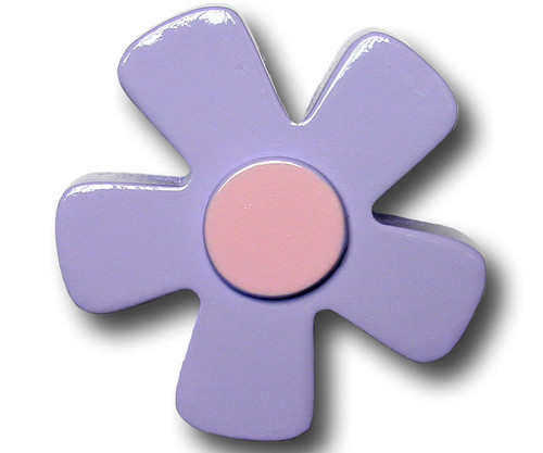 Pastel Purple Daisy Drawer Pull | One World | OW-DP536