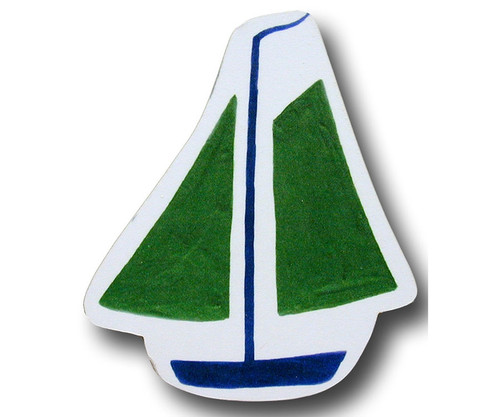 Green Sail Boat Drawer Pull | One World | OW-DP540