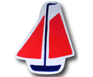Red Sail Boat Drawer Pull | One World | OW-DP541