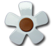 Pastel Blue Daisy Drawer Pull 1 | One World | OW-DP589