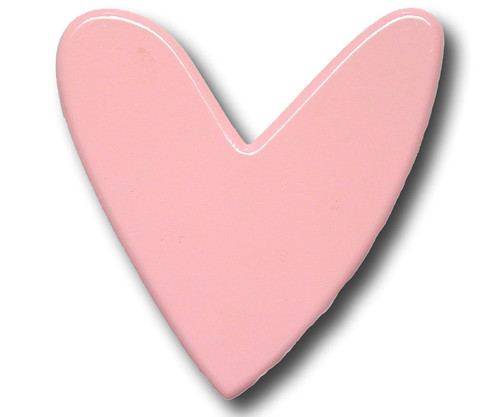 Pink Heart Drawer Pull   One World   OW-DP590