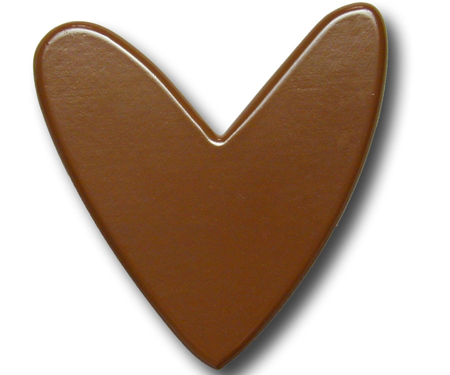 One World Chocolate Heart Drawer Pull Decorative Knobs