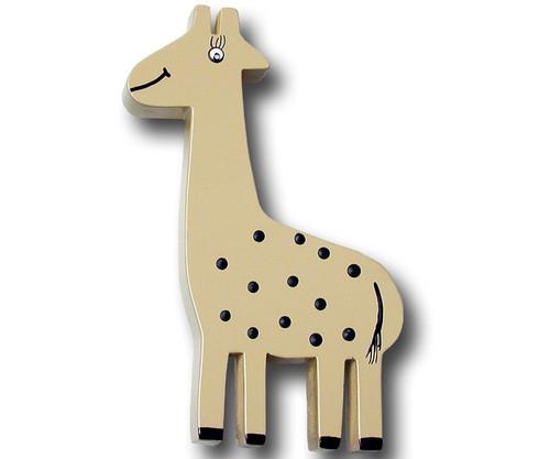 Khaki Giraffe Drawer Pull   One World   OW-DP601