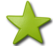 Green Star Drawer Pull   One World   OW-DP604