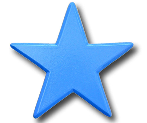 Bright Blue Star Drawer Pull      OW-DP607