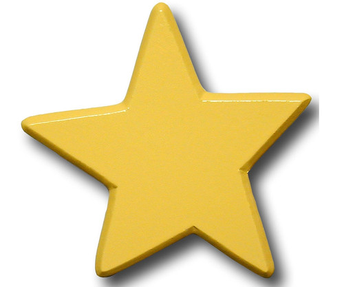 Pastel Yellow Star Drawer Pull   One World   OW-DP614