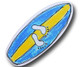 Maui Wowie Surf Board Drawer Pull | One World | OW-DP635