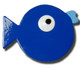 Blue Puffer Fish Drawer Pull | One World | OW-DP641