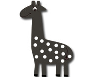 Graphite Giraffe Drawer Pull | One World | OW-DP665