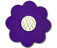 Satin Dark Purple Lolli Flower Drawer Pull | One World | OW-DP74036