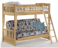 Spice Twin over Futon Bunk Bed Natural | New Energy Furniture | SPICE-FB-N