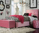 Young Parisian Upholstered Bed Twin Size Pink   Standard Furniture   ST-6515165152