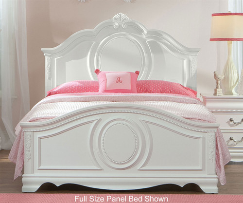 Jessica Panel Bed Twin Size White | Standard Furniture | ST-942010203