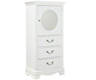 Jessica Lingerie Chest with Looking Glass White | Standard Furniture | ST-94215