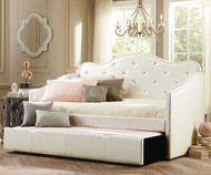 Caroline Daybed with Trundle White | Standard Furniture | ST-98150