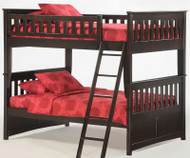 Timber Creek Full over Full Bunk Bed Chocolate | Night and Day Furniture | TCFFB-CTE
