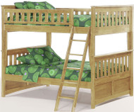 Timber Creek Full over Full Bunk Bed Natural | Night and Day Furniture | TCFFB-NAT
