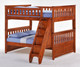 Timber Creek Full over Full Bunk Bed with Stairs | Night and Day Furniture | TCFFB-Stairs