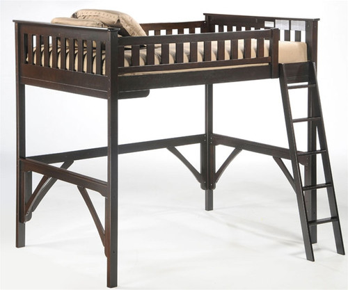Timber Creek Loft Bed Chocolate | Night and Day Furniture | TCLOFT-CLTE