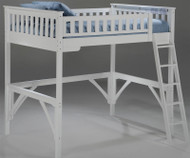 Timber Creek Loft Bed White | Night and Day Furniture | TCLOFT-WH