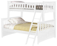Timber Creek Twin over Full Bunk Bed White 2 | Night and Day Furniture | TCTFB-WHT