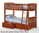 Timber Creek Bunk Bed with Stairs | Night and Day Furniture | TCTTB-Stairs