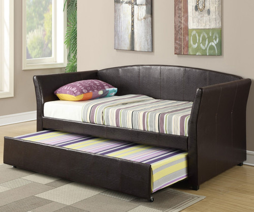 Moderna Daybed with Trundle Espresso | Poundex | UF-F9221