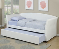 Moderna Daybed with Trundle White   Poundex   UF-F9259