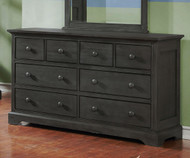 Allen House 8 Drawer Dresser Weathered Dark Gray