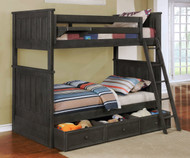 Allen House Brandon Bunk Bed Weathered Dark Gray