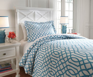 Taylor Bedding Set Aqua