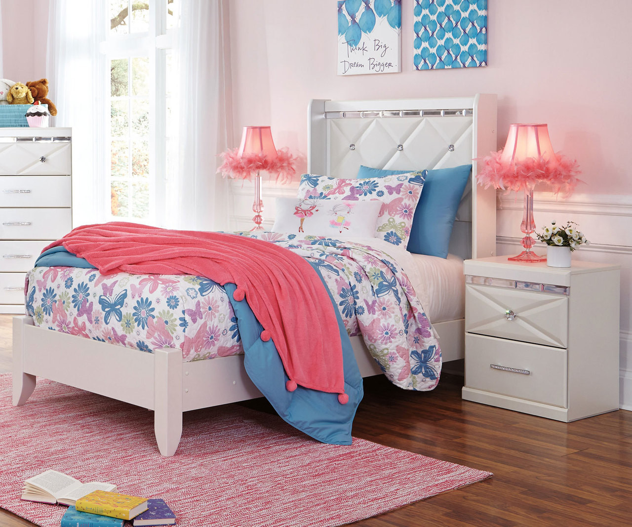 Dreamur Twin Size Panel Bed B351