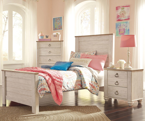 willowton twin size panel bed b267 | ashley kids furniture