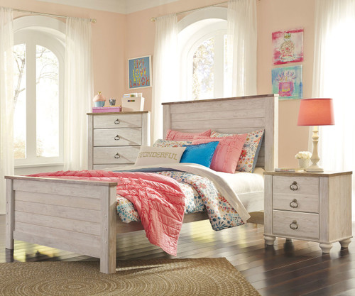 willowton full size panel bed b267 | ashley kids furniture
