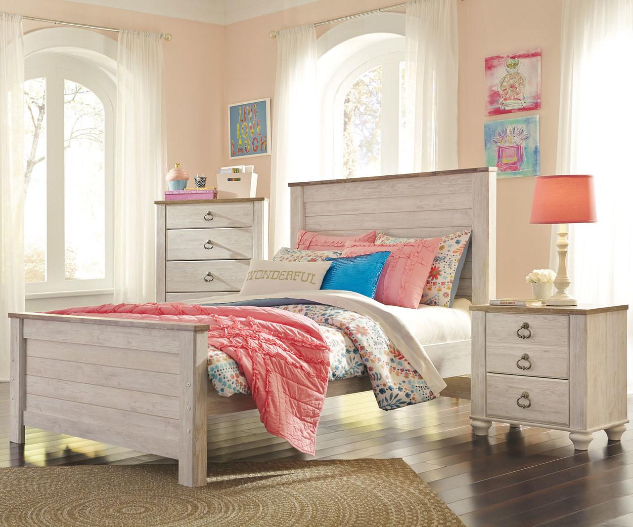 Willowton Full Size Panel Bed B267 Ashley Kids Furniture Kids Teens Bedroom Furniture