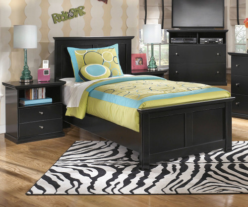 maribel twin size panel bed b138 | ashley kids furniture