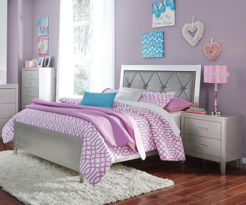 olivet full size upholstered panel bed b560 | ashley kids