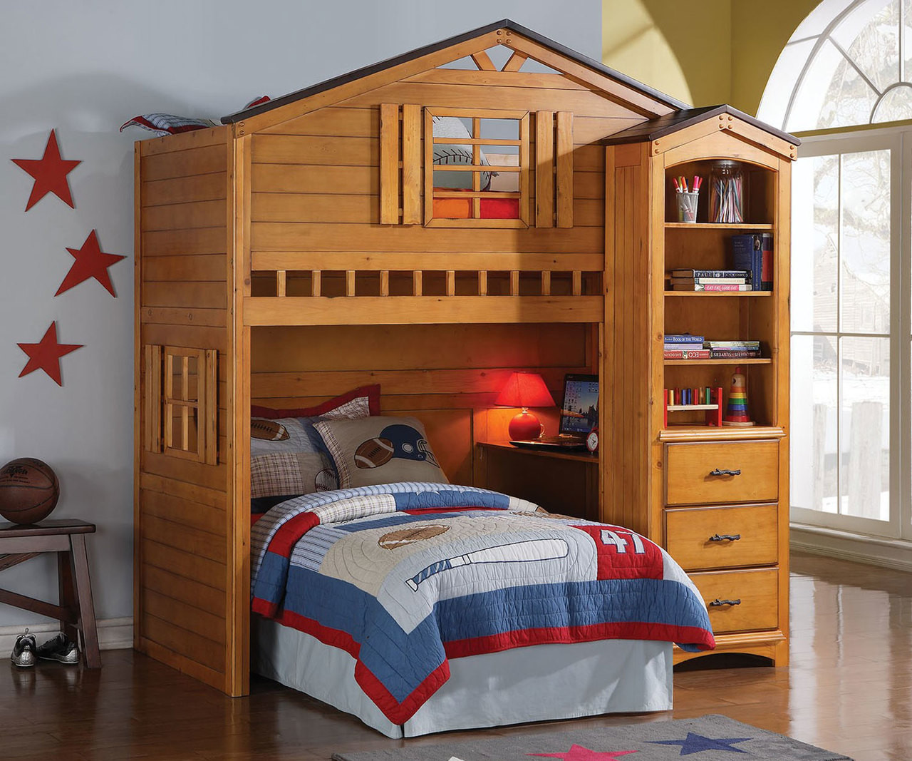 Picture of: Tree House Loft Bed 10160 Acme Furniture Kids And Teens Bedroom Furniture