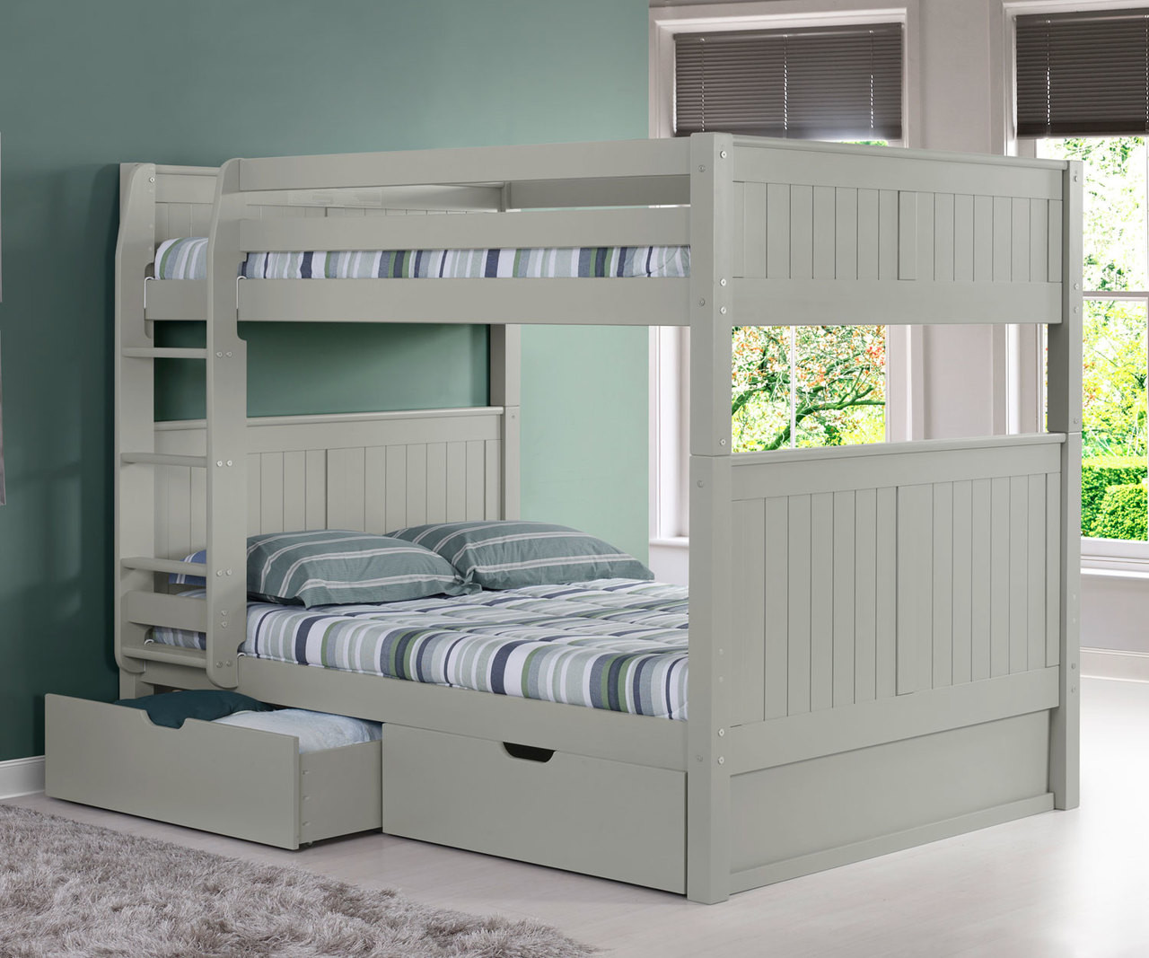 Picture of: Camaflexi Full Over Full Bunk Bed In Grey E1624 Camaflexi Furniture Solid Wood Kids Furniture