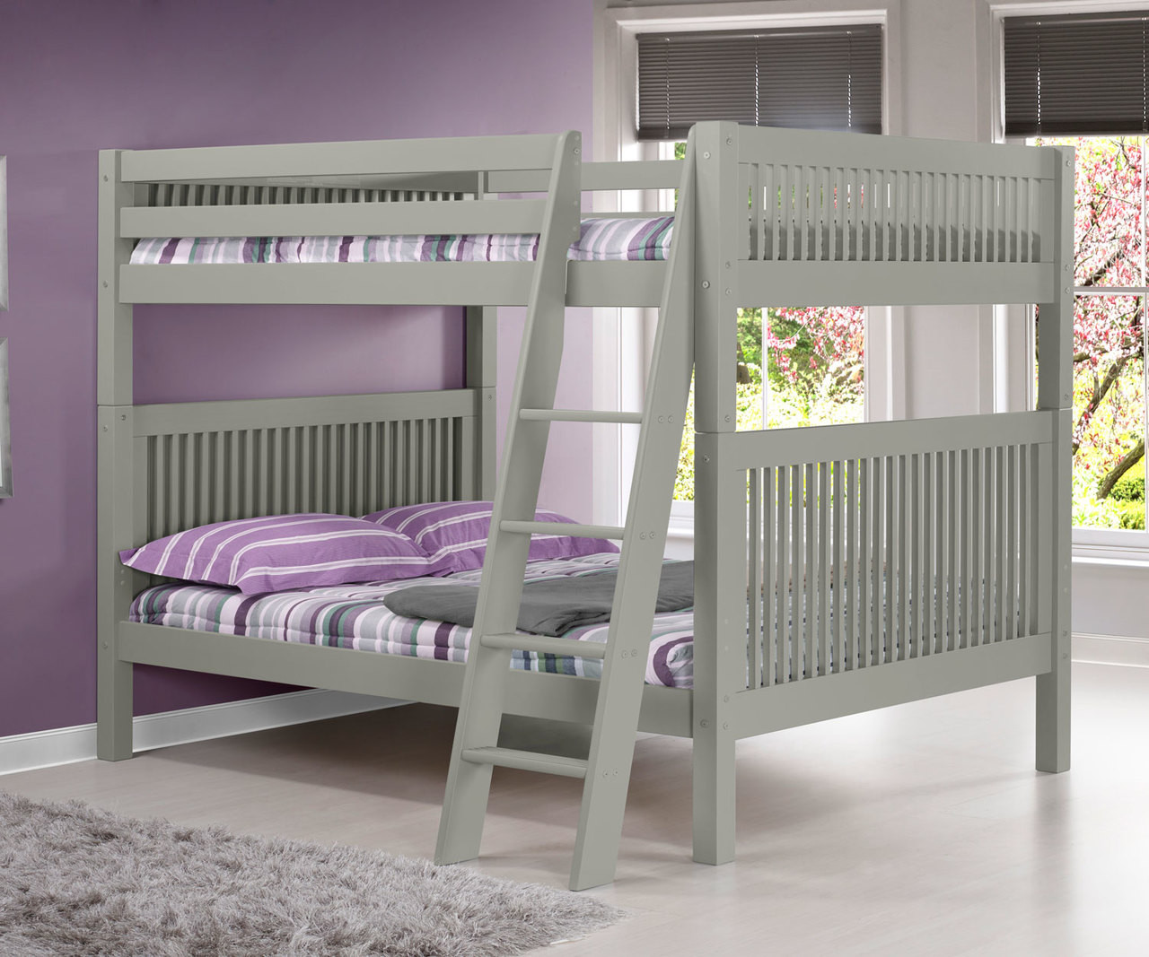 Picture of: Camaflexi Full Over Full Bunk Bed In Grey E1614a Camaflexi Furniture Solid Wood Kids Furniture