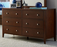 Urbana 6 Drawer Dresser Cherry
