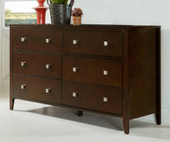 Urbana 6 Drawer Dresser Chocolate