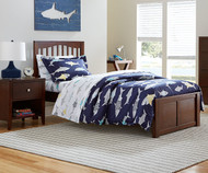 Urbana Mission Bed Twin Size Chocolate