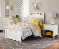 Urbana Arch Bed Twin Size White