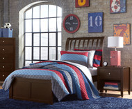 Urbana Sleigh Bed Twin Size Chocolate