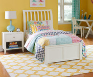 Urbana Sleigh Bed Twin Size White