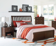 Urbana Sleigh Bed Full Size Chocolate