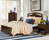 Urbana Arch Bed Full Size Chocolate
