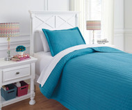 Braston Bedding Set Turquoise Twin Size