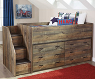Trinell Low Loft Bed with Dressers